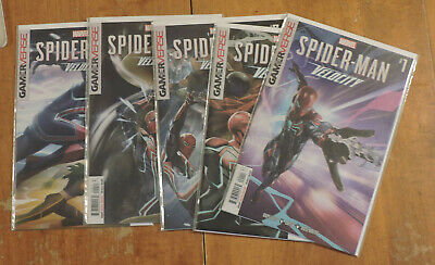Spider-Man Velocity #1-5 (Marvel 2019/2020) complete series Gamerverse NM