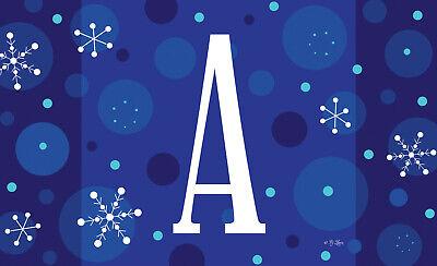 Toland Winter Snowflakes Monogram 18 x 30 Decorative Initial Door Floor Mat  ()