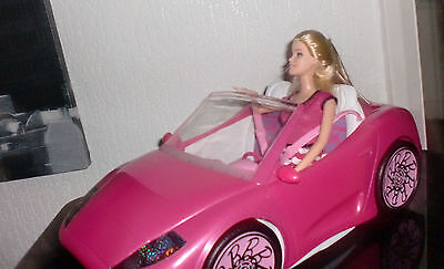 BARBIE - PINK OPEN TOP CONVERTIBLE GLAM SPORTS CAR & DOLL