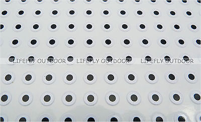 Craft Fly Tying 11mm Flat Silver // Wholesale 700 Flat Eyes Lure Making Jig