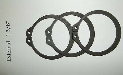 Set of 3 Retaining Ring External Carbon Steel Snap Rings, 1-3/8""
