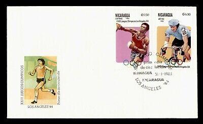 DR WHO 1983 NICARAGUA FDC XXIII OLYMPICS  C244424