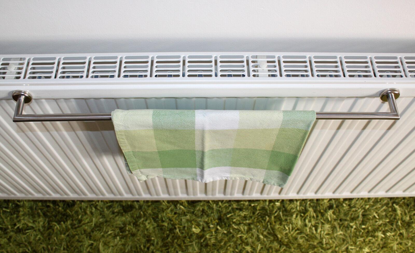 edelstahl handtuchhalter 50 cm magnet befestigung f r heizk rper ohne saugnapf eur 27 00. Black Bedroom Furniture Sets. Home Design Ideas