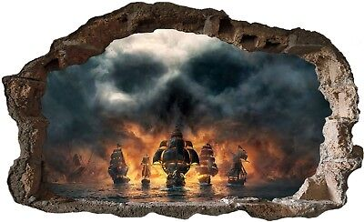 Pirate fantasy Sea Scene lift any room Wall Art Mural Decor decal vinyl die cut ()
