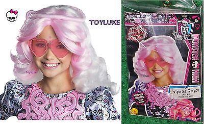 Monster High VIPERINE GORGON w/ Headpiece Snake Dress Up CHILD WIG Costume Hair - Monster High Baby Games
