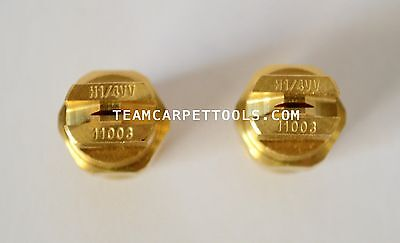 Carpet Cleaning Wand Replacement Brass 14 V-jets 11003 Vee Jets 2 Count