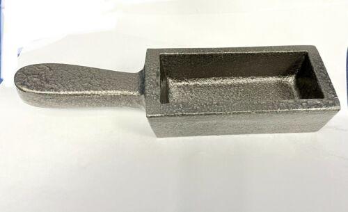 Ingot Mold With Handle 80 Oz Cast Iron Loaf Bar Melt Gold Copper Silver Scrap