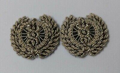 Genuine British MOD & Ambulance Service Caduceus in Wreath Collar Badges ASPS443