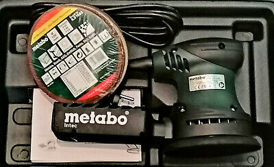 Metabo FSX 200 Intec Fäustlings Exenterschleifer 125mm + 25 Haftschleifblätter