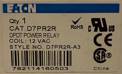 Eaton Cutler Hammer D7pr2r 12 Vac Dpdt Power Relay