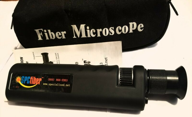 SPCfiber-C400 Coax Illum Optical Fiber Microscope 400x w/2.5 mm Adptr