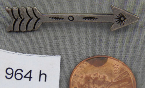 Pre WWII Sterling, Stamped Arrow Navajo Pin