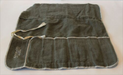 Vintage G.Fox & Co. Place Setting Flatware Roll Up Storage Bag