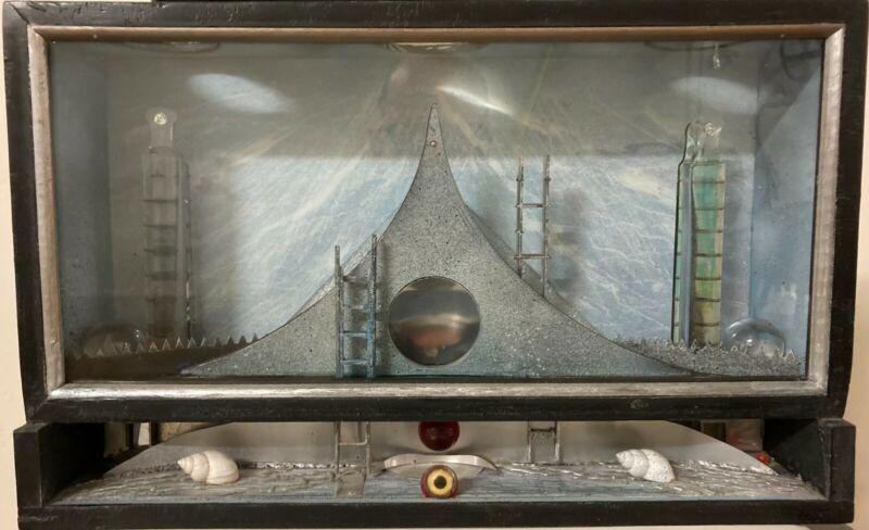 Fine Art Shadow Box Provincetown Artist Elspeth Halvorsen Signed 9/11 2001