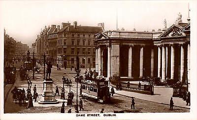 Dublin. Dame Street in Signal Series. Tram.