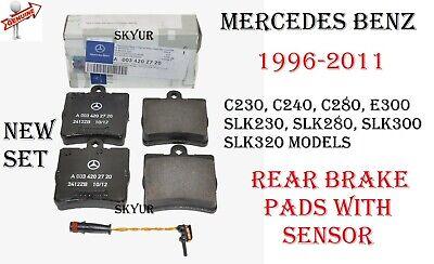 C280 SLK230 Front Rear Ceramic Brake Pads E300 For 04-2001 Mercedes-Benz C230