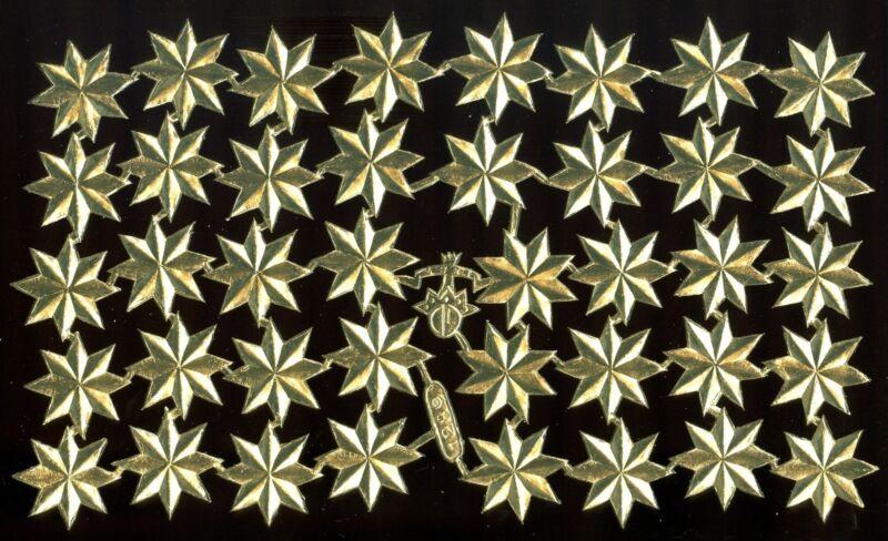 Scrap Diecut German Dresden Gold Foil Paper Small Stars Victorian Crafts