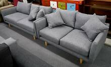 New Grey Scandi Danish 2+3 Seater Jordan Lounge Sofas Suite Set Melbourne CBD Melbourne City Preview