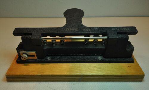 Vintage Heavy Duty 6 Hole Adjustable Hole Punch Working
