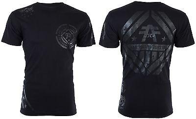 American Fighter Affliction Men T Shirt Averett Biker Reflective Ink Gym Ufc  40