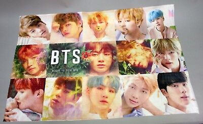 [K-POP] BTS Goods Bangtan Boys Mini Group Blanket - 23.6 x 35.4 inches