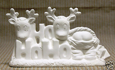 Ceramic Bisque Ho Ho Ho Santa Holland Mold 2998 U-Paint Ready To Paint