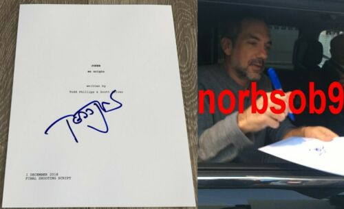 TODD PHILLIPS SIGNED AUTOGRAPH JOKER 104 PAGE FULL SCRIPT w/EXACT PROOF
