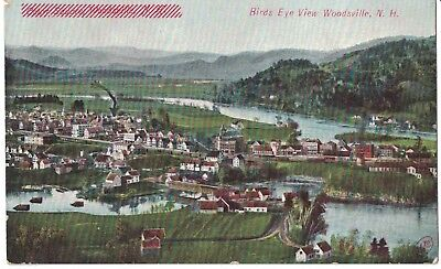 (Postcard Birdseye view of Woodsville New Hampshiere N.H. Misprint )