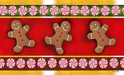 Toland Gingerbread Men 18 x 30 Decorative Holiday Cookie Floor Mat Doormat Holiday Floor Mat