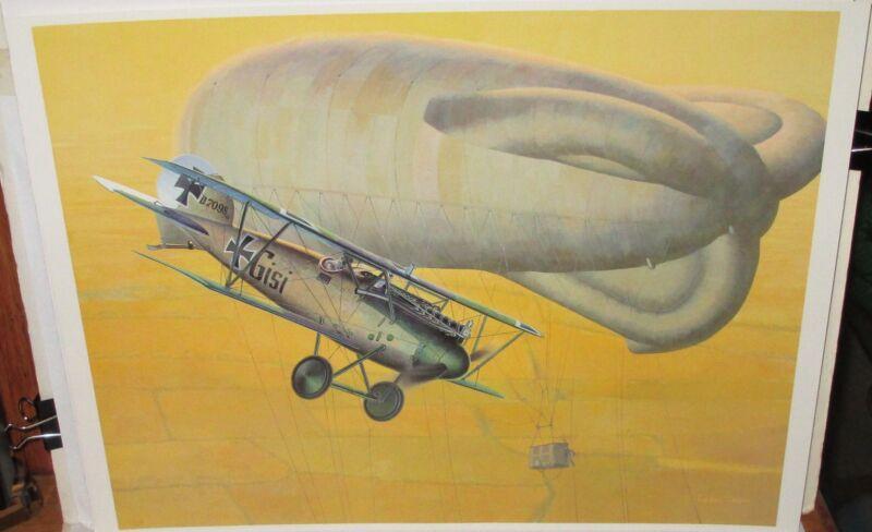 KOIKE SHIGEO ALBATROS WERKE D.VA FIGHTER GERMANY LITHOGRAPH
