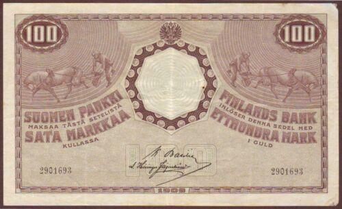 FINLAND  100 Markkaa  1909