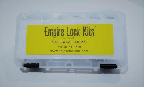 Lock Rekey Kit Pinning Kit Schlage Top Bottom Master Pins With Springs