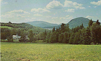 postcard USA Vermont the village of West Barnet unposted