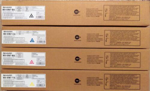 MX-61NT-CA, MX-61NT-MA, MX-61NT-YA,MX-61NT-BA, Sharp Toner Set, New, OE, Genuine