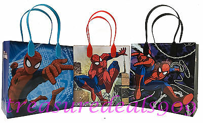 12 PCS SPIDERMAN MARVEL GOODIE GIFT BAGS PARTY FAVORS CANDY TREAT BIRTHDAY BAG