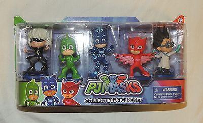 New PJ Masks 5 Pack Figure Set Catboy Owlette Gekko Luna Girl Romeo Disney