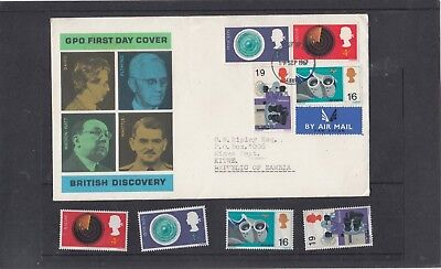 GB 1967 British Discovery FDC First Day Cover Leeds fdi h/s + unmounted mint set