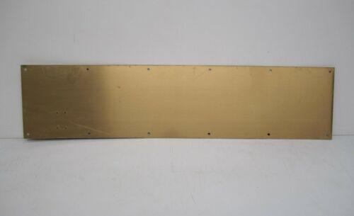 "Vtg Brass Door Kickplate Kick Plate Bumper Guard Metal Hardware 34""x8"""