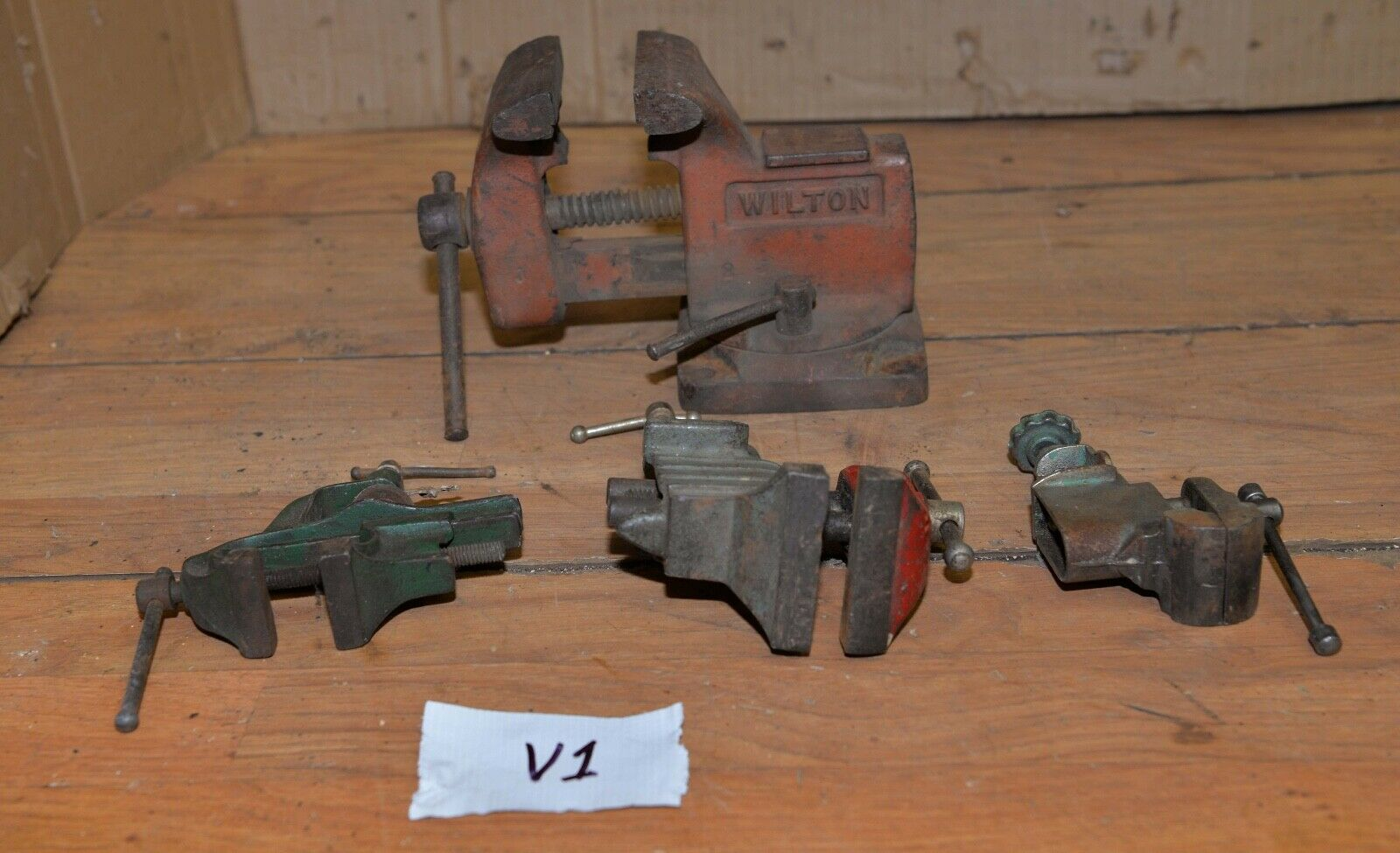 Photo 4 collectible bench vise Wilton Stanley & more jeweler machinist tool lot V1