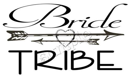 iron on transfer wedding married bride tribe arrow heart boho