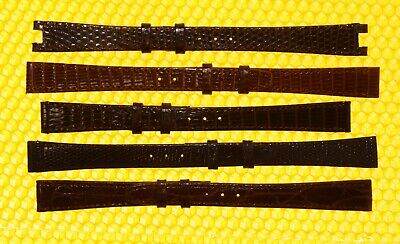 [Lot of 5] Vintage GUCCI 13mm Leather Watch Strap Bands SWISS MADE