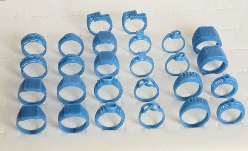 Lot of 26 Rings Mix of Styles and Sizes. Wax Patterns , lost wax casting 21-136