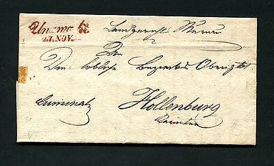 """Österreich - """"Unzmarkt"""" roter L2 auf Brief von 1843  (#677)"""
