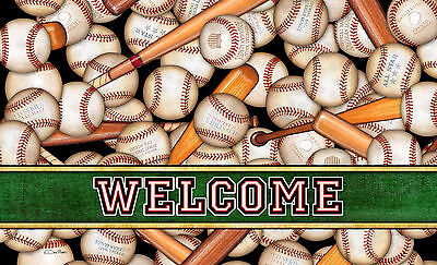 Toland America's Pastime 18 x 30 Decorative Baseball Welcome Floor Mat Doormat