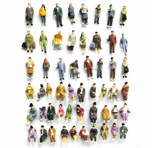P8702-108pcs-1-87-Well-Painted-Figures-Seated-Passenger-HO-Scale