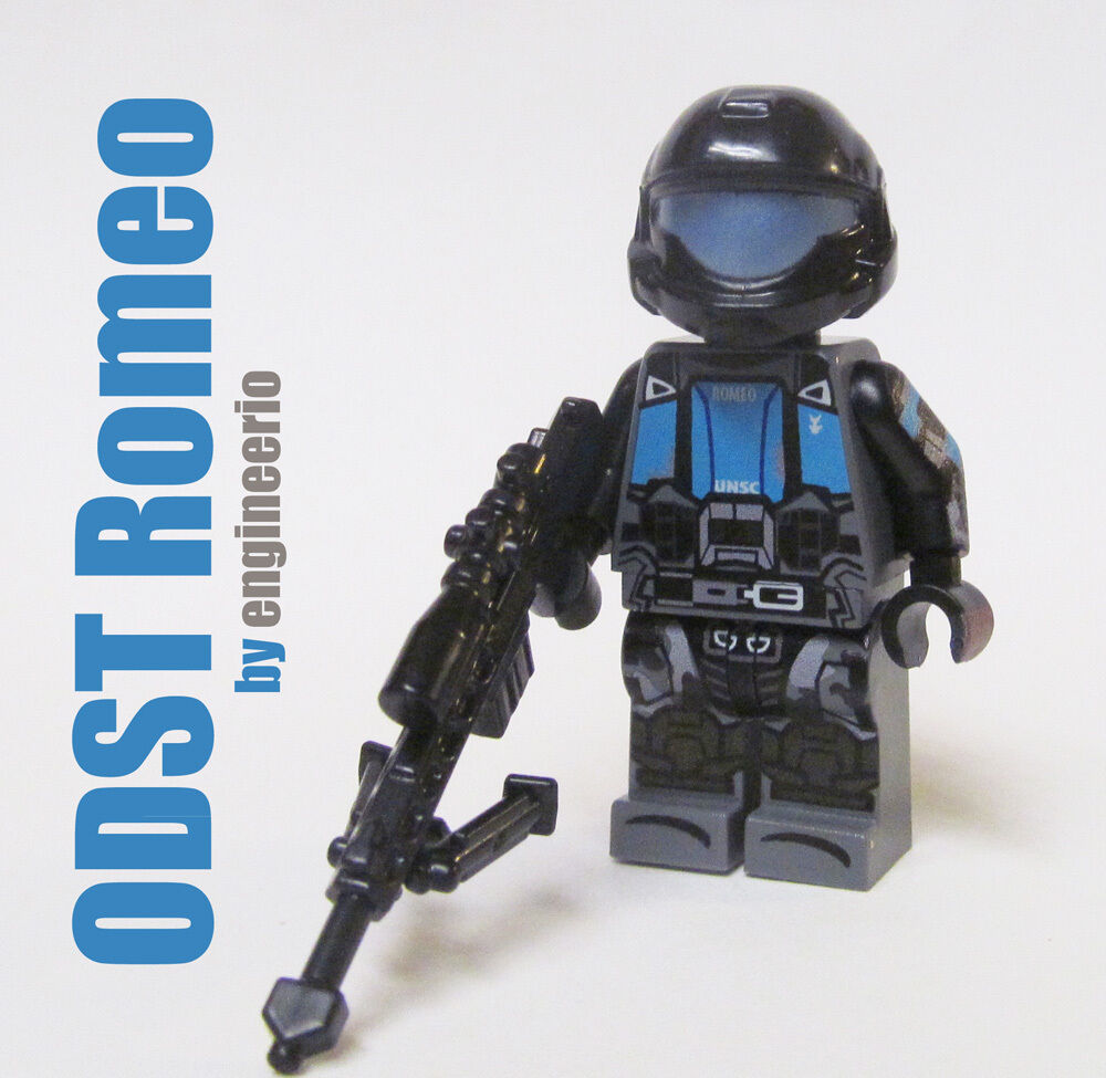 Halo ODST Mickey Minifigure army video game space marine LEGO Custom