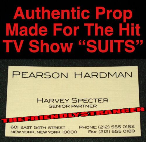 """Rare HARVEY SPECTER """"SUITS"""" PROP BUSINESS CARD (F) 100% Authentic GABRIEL MACHT"""