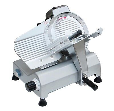 "Commercial Electric 254mm 10"" Blade Meat Slicer Cutter 240w Food Cheese Veggies"