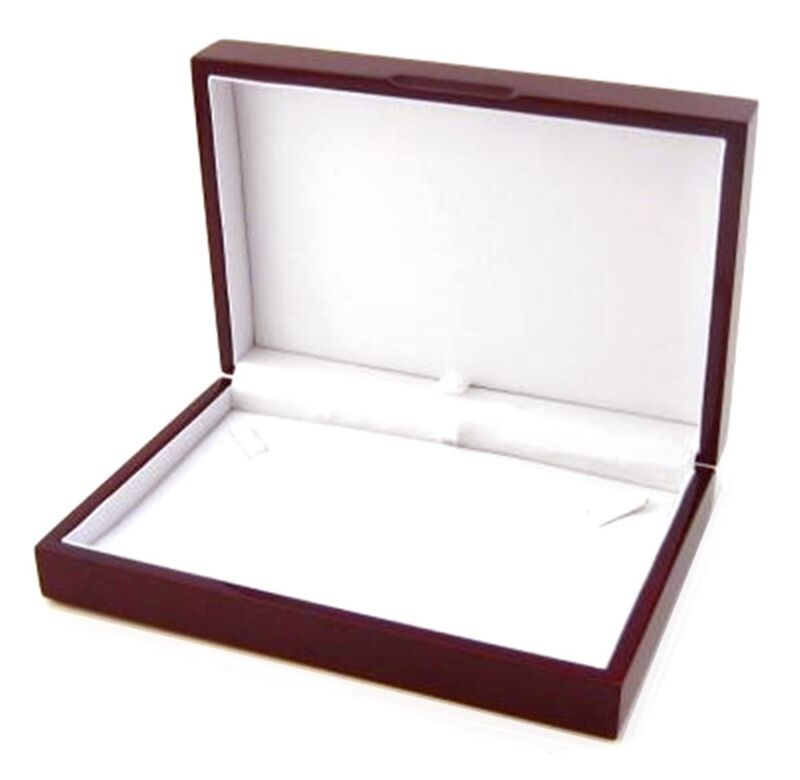 1 Rosewood Small Necklace Pendant or Chain Jewelry Display Gift Box