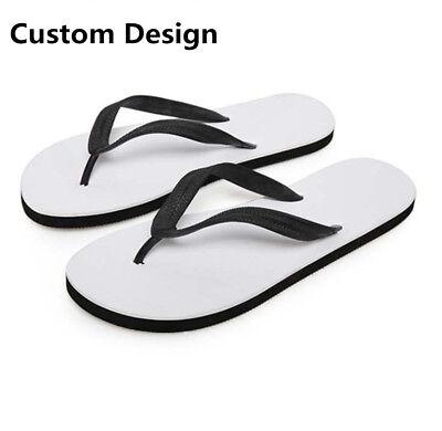 FORUDESIGNS Custom Design Men Women Summer Flip-Flops Sandal Soft Beach Slippers Custom Design Flip Flops